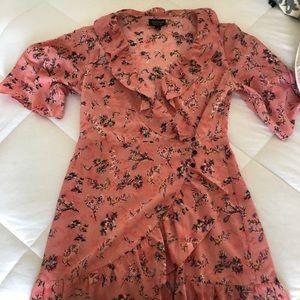 Topshop pink summer dress